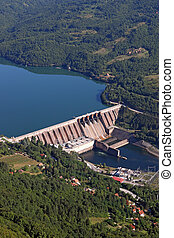 Hydroelectric power plant on river Perucac Serbia