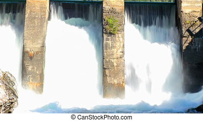 Hydroelectric power station - Old dam of hydroelectric power...