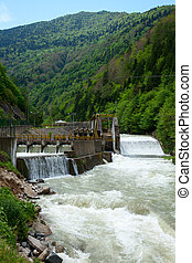 Hydroelectric power station - Small hydro power plant in ...
