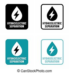 Hydroelectric separation, water devices safe storage ...