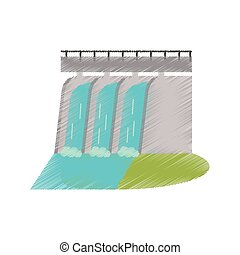 hydroelectric station plant water dam ed