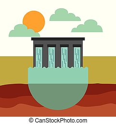 water dam icon