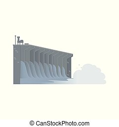 Hydroelectric water dam, sustainable energy source