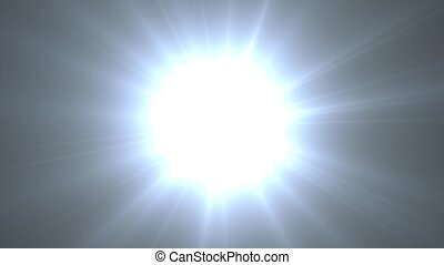 Hydrogen. Chemical element of periodic table. Star explosion
