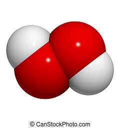 Hydrogen peroxide (HOOH) - Chemical structure of a hydrogen...