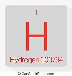 Hydrogen - Vector illustration of the symbol of hydrogen