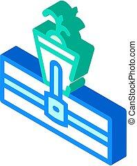 hydroponics isometric icon vector sign isolated illustration