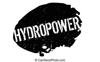 Hydropower rubber stamp. Grunge design with dust scratches....