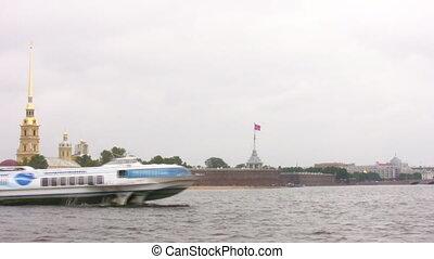 hydrowing ship in Petersburg