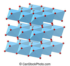 hydroxide, mineral, portlandite, cal, hidrató, cristal, slaked, lime), ca(oh)2, (calcium, structure.