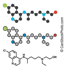 hydroxychloroquine, molecule., malaria, drog