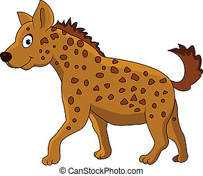 Hyena cartoon - Vector illustration of hyena cartoon