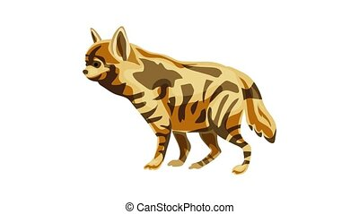 Hyena icon animation best on white background for any design