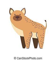 hyena jungle animal in cartoon abstract design