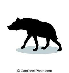Hyena predator black silhouette animal