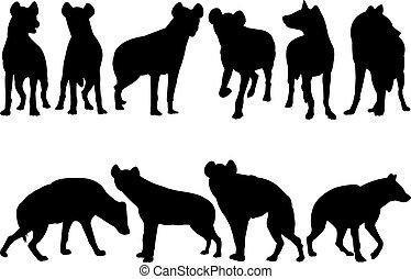 Hyena Silhouette vector illustration
