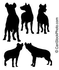 Hyena silhouettes 01.