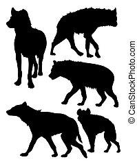 Hyena silhouettes 02.