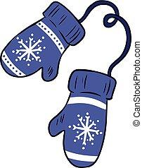 hygge, inverno, coloridos, mittens, doodles, caricatura, cozy