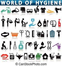 hygiène, icône