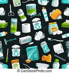 Hygiene and healthcare seamless pattern background
