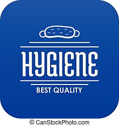 Hygiene bacteria icon blue vector