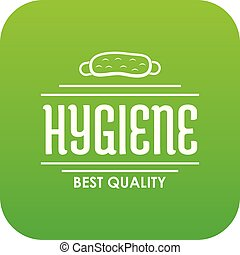 Hygiene bacteria icon green vector