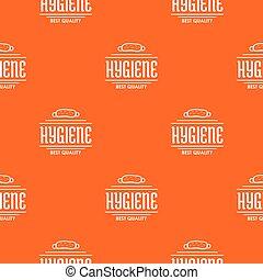 Hygiene bacteria pattern vector orange