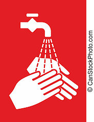 Hygiene - simplified sign for hygiene and hand disinfection