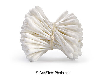 Hygiene cotton swabs-cleanliness and care of a body
