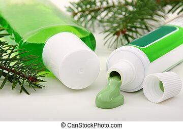 hygiene., dentaire, produits