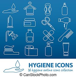 hygiene outline icons