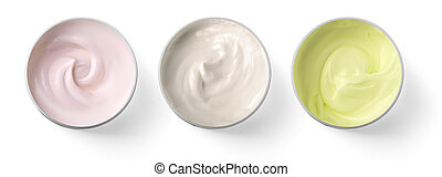 Hygienic cream, top view
