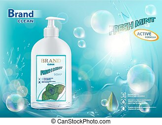 hygienic soap with mint