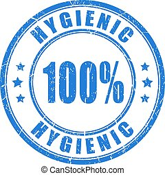 Hygienic vector stamp