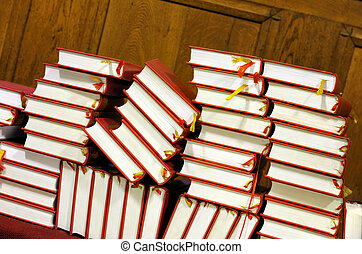 Hymnals and prayer books - stack