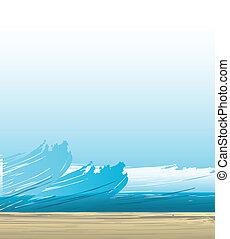 hymne, baggrund, bølger