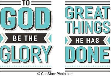 hymne, zijn, groot, set, tekst, glorie, spullen, vector, gedaan, poster, gaan, evangelie, heeft, hij