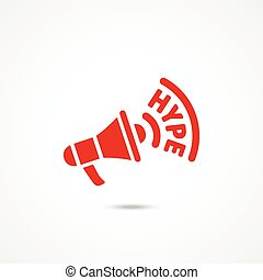 Hype icon. Flat vector illustration on white