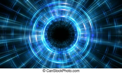 Hyper jump in time concept blue loop cycle background - Cool...