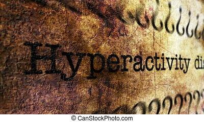 Hyperactivity disorder grunge concept