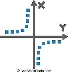 Hyperbola Plot Vector Toolbar Icon