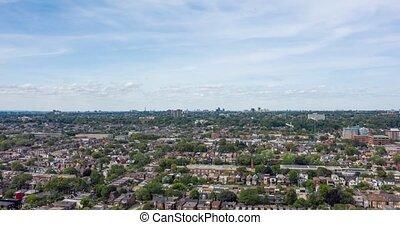 hyperlapse, neighborhood., toronto, vue aérienne