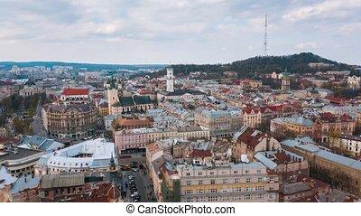 Hyperlapse of the historical center of Lviv, UNESCO's...