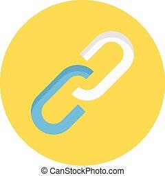 hyperlink vector colour flat icon