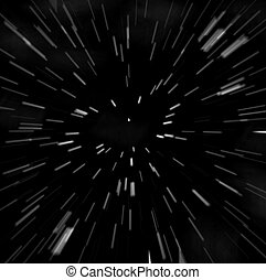 hyperspace - blasting through the galaxy. makes a great starfield background.