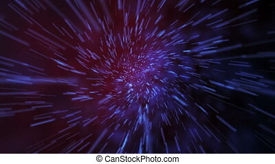 Hyperspace galactic fly - Hyperspace inter-galactic movement...