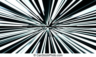 Hyperspace jump, scene of overcoming the temporary space in...