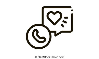 hypertension call doctor Icon Animation. black hypertension call doctor animated icon on white background