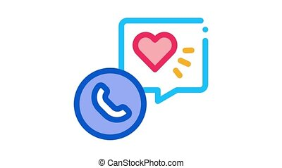 hypertension call doctor Icon Animation. color hypertension call doctor animated icon on white background